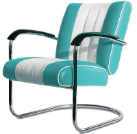 50s Diner Chairs - Click on image to view Colours & Details