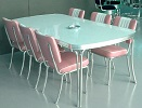 American Diner Set - 6 x CO24 Chairs TO28 Table