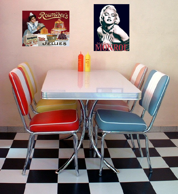 American Diner Furniture Retro Diner Sets 50s American