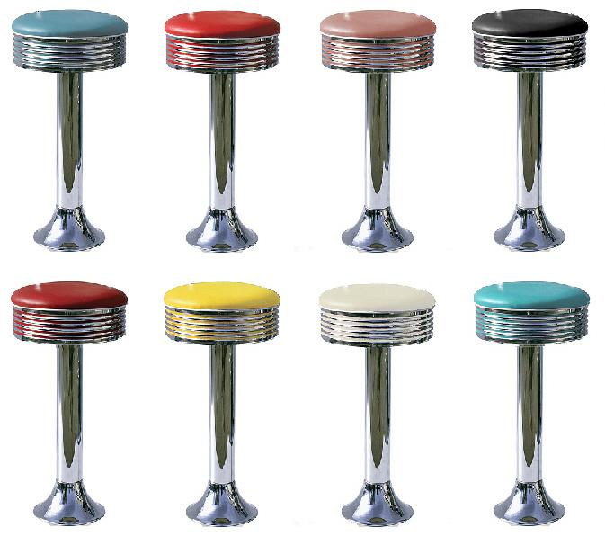 Retro 50s Style Diner Stools Diner Stools Bel Air 50s