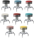 Under Table Retro Stools - Click on image to view Colours & Details