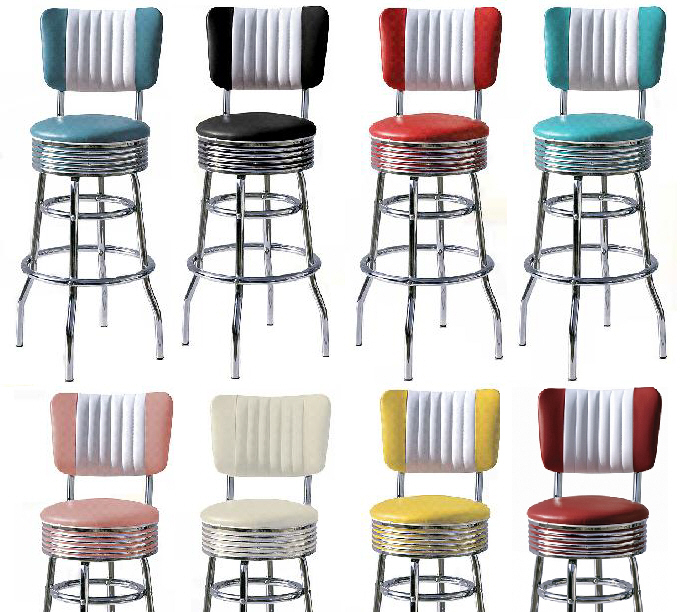 Retro 50s Style Diner Stools Diner Stools Bel Air 50s  : bs29cbpop from www.wotever.co.uk size 690 x 612 jpeg 240kB