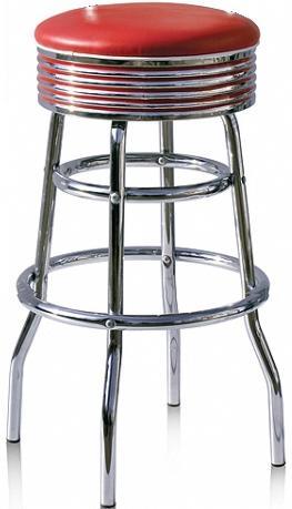 retro 50s style diner stools diner stools bel air 50s. Black Bedroom Furniture Sets. Home Design Ideas