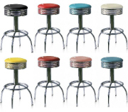 Retro Bar Stools - Click on image to view Colours & Details