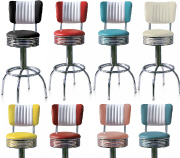 Retro Bar Stool - Click on image to view Colours & Details