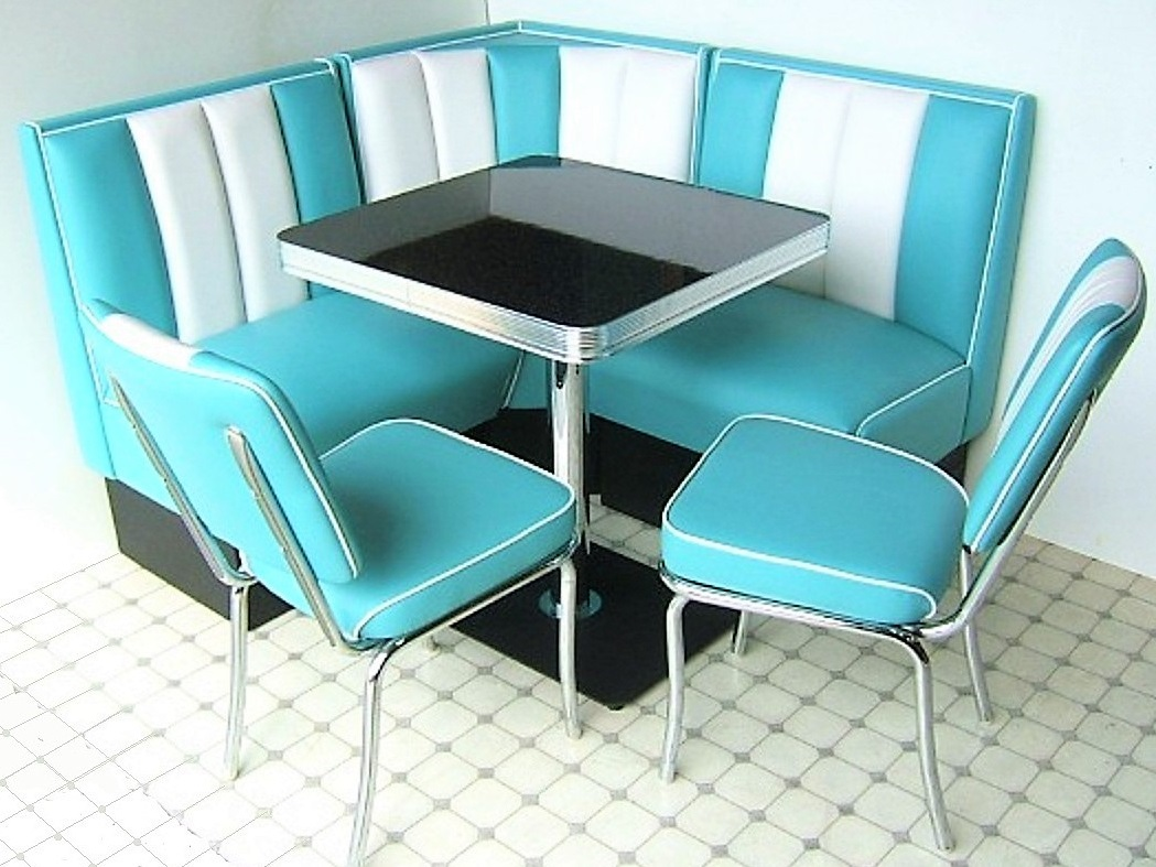 American Diner Set   2 X CO24 Chairs U0026 1 X TO23W Table U0026 1 Single