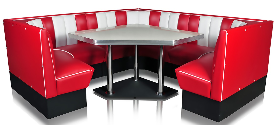 Hollywood Diner Booth Combination Set 4