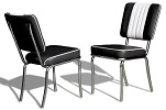 CO24 Retro Diner Chair Black