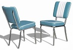 CO24 Retro Diner Chair Blue