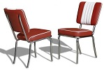 CO24 Retro Diner Chair Ruby