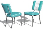 CO24 Retro Diner Chair Turquoise