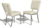 CO24 Retro Diner Chair White
