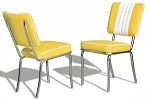 CO24 Retro Diner Chair Yellow