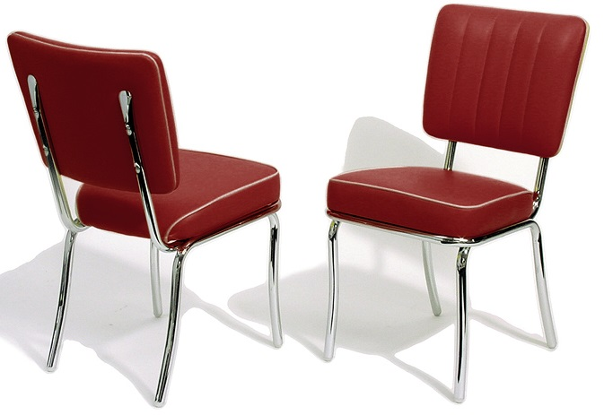 CO25 Retro Diner Chair Ruby  American 50s Style Diner Chairs   Retro Chairs   CO25 Diner Chair  . Red Retro Diner Chairs. Home Design Ideas