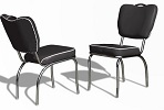 CO26 Retro Diner Chair Black