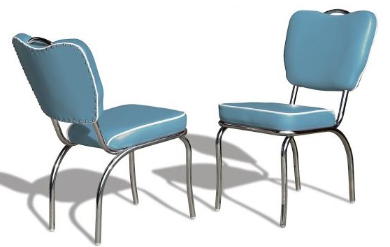CO26 Retro Diner Chair Blue