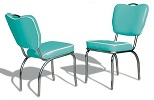 CO26 Retro Diner Chair Turquoise