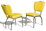 CO26 Retro Diner Chair Yellow