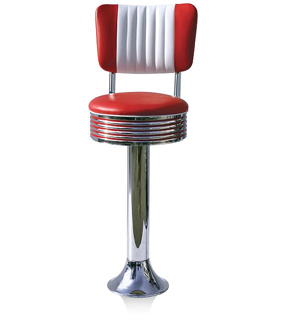 American 50s Style Diner Bar Stools Retro Bar Stools
