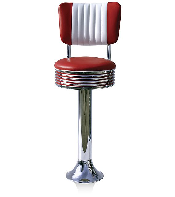 American 50s Style Diner Bar Stools Retro Bar Stools Bs27cb Diner Bar Stool Wotever