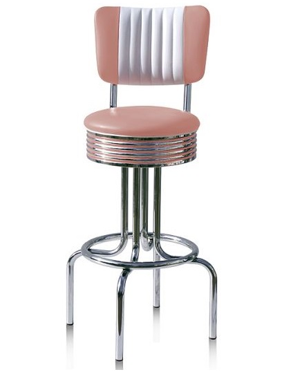 american 50s style diner bar stools retro bar stools. Black Bedroom Furniture Sets. Home Design Ideas