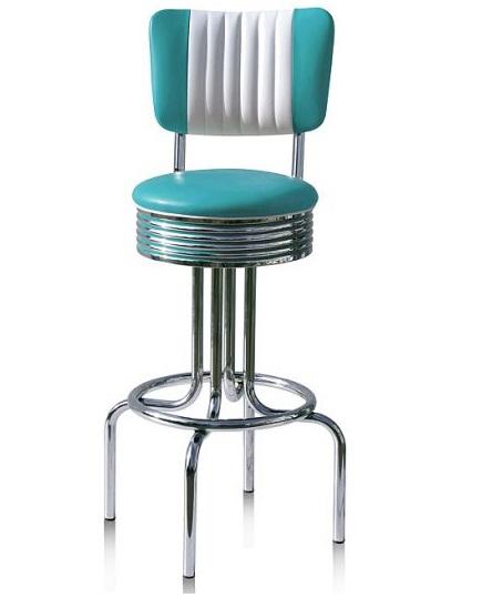 American 50s Style Diner Bar Stools Retro Bar Stools