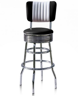 BS28CB Retro Diner Stool Black