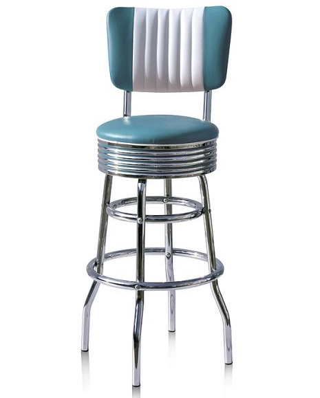 American 50s Style Diner Bar Stools Retro Bar Stools  : dinerstoolbs29cbblue from www.wotever.co.uk size 465 x 579 jpeg 37kB