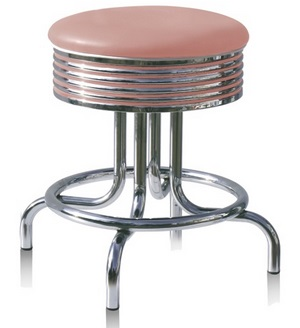 American 50s Style Diner Bar Stools | Under Table Diner Bar Stool ...