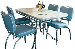 TO20 Diner Table Antique White shown with CO26 Chairs