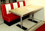 TO25W Retro Diner Table Antique White