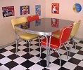 TO27 Diner Table Blackstone shown with CO26 Chairs