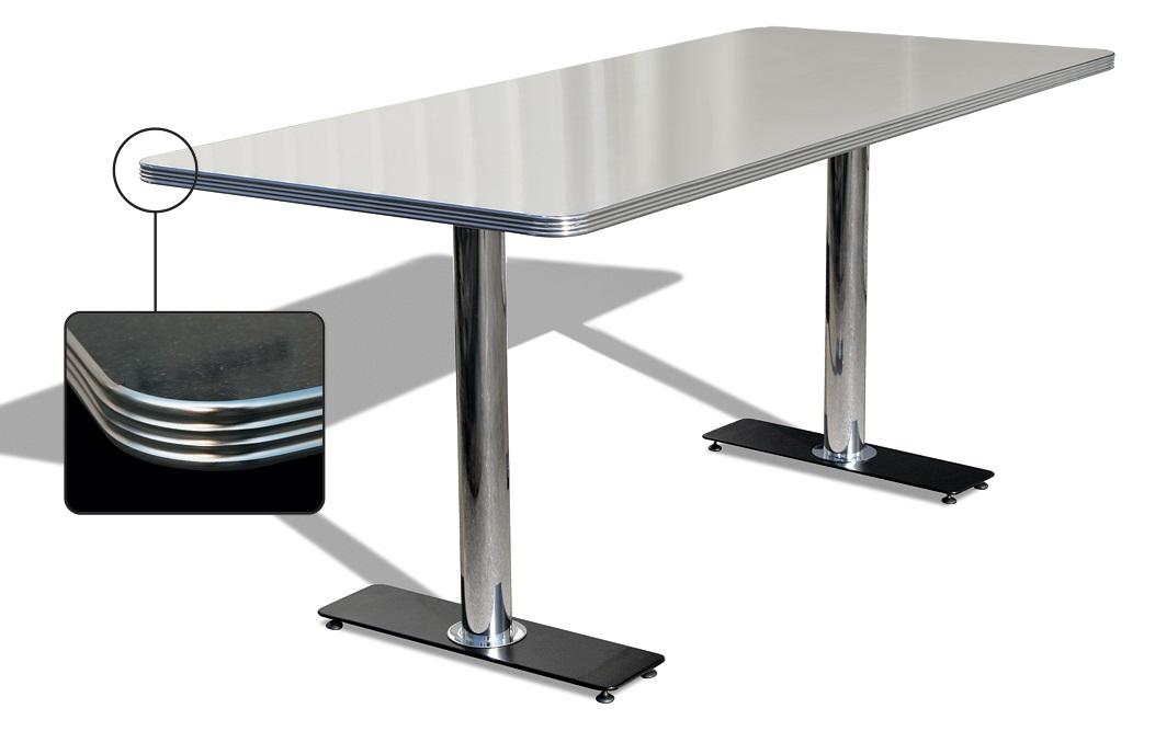 American 50s Style Diner Tables To29w Double Pedestal
