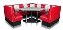 TO30W Retro Diner Table shown with Booths