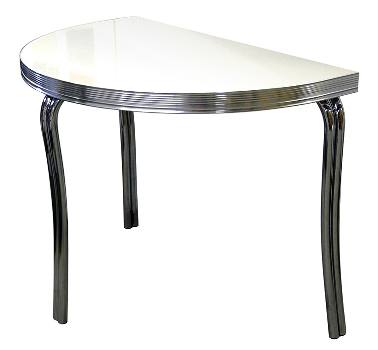 American 50s Style Bar Tables Wo12 Half Round Table