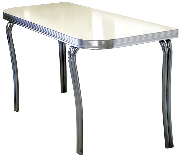 Table A Diner : american 50s style diner tables wo24 half rectangular diner table retro diner furniture ~ Teatrodelosmanantiales.com Idées de Décoration