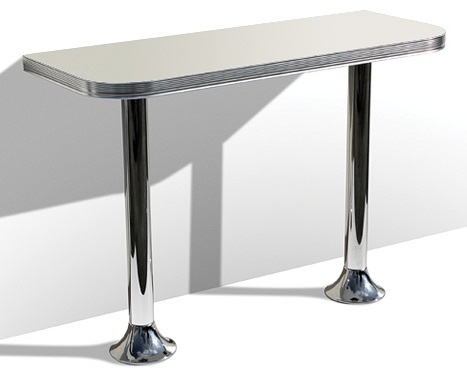 American S Style Bar Tables WO Pedestal Bar Table Retro - Rectangular retro diner table
