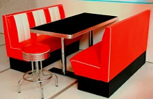 Hollywood 3  Seater Diner Booth Set