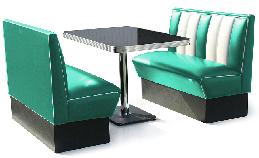 Hollywood diner booth sets 50s american diner booths retro furniture diner booth wotever - Kitchen booth sets ...