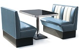 2 Seater Hollywood Diner Booth Set Blue
