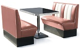2 Seater Hollywood Diner Booth Set Rose