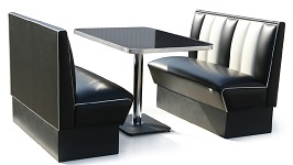 Hollywood 2 Seater Diner Booth Set - Click on image to view details