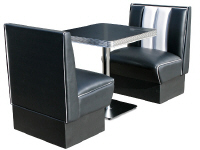 Hollywood Single Seater Diner Booth Set