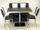 American Diner Set - 2 x CO24 Chairs & 1 x TO22W Table & 1 x 2 Seater Booth