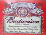Budweiser Metal Tin Sign