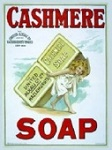 Cashmere Soap Metal Tin Sign