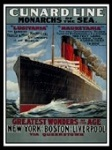 Cunard Metal Tin Sign