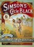 Simsons Cycle Black Metal Tin Sign
