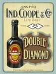 Double Diamond Metal Tin Sign
