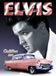 Elvis Cadillac Metal Tin Sign